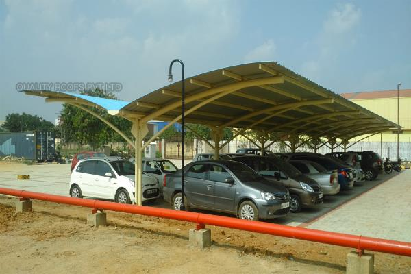 We are specialised in Polycarbonate Roofing Car Parking Sheds, Metal Roofing Car parking Sheds and PVC Roofing Car parking Sheds. nowadays all are going to make roof sheds for parkings because it's very economical, durable, quick completion, aesthetic look and it can be dismantle type. we have completed so many car parking sheds for our customer in all around tamilnadu.