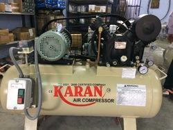 We are engaged in offering Air Cooled Compressor. it s capacity 1 H P to 25 H P Reciprocating air compressor,We are used all raw material  standard quality as like casting,steel bar,copper,aluminum etc, all material are tested in laboratories. All dimension are  maintain as per drawing and tolerances. We have  in house tool room,We are use crompton or Hindustan electric motor in our machine.Technical Specification for this modelCFM :- 30Pressure :- 12.3 KgTank Capacity :- 300 Ltr.Model No:- 753