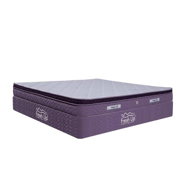 	A Luxury mattress made of a high density Pure HR foam with the memory foam quilting on top. The Bonnell springs supports the body uniformly. 	Firmness: medium soft 	A Bonnell Spring Mattress. 	Non-reversible mattress 	Fabric: Imported knitted fabric Buy Now: https://www.freshupmattresses.com
