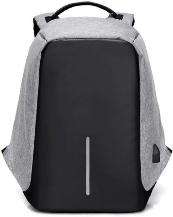 Caris Anti-Theft Laptop Travel Backpack with USB Plug Charging port 20 L Laptop Backpack  (Grey) Laptop Bag