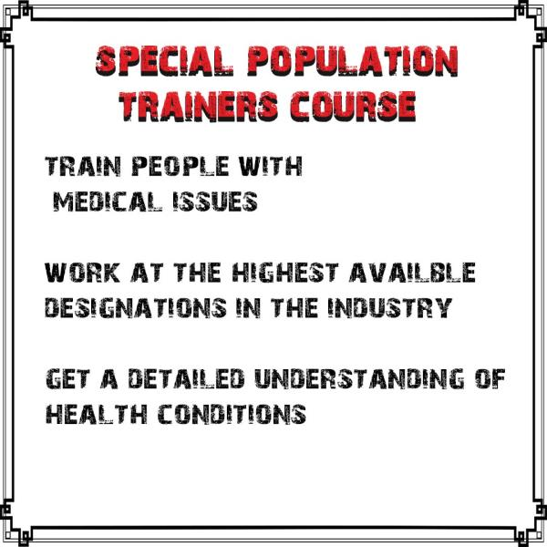 Special Popuation Trainers Course