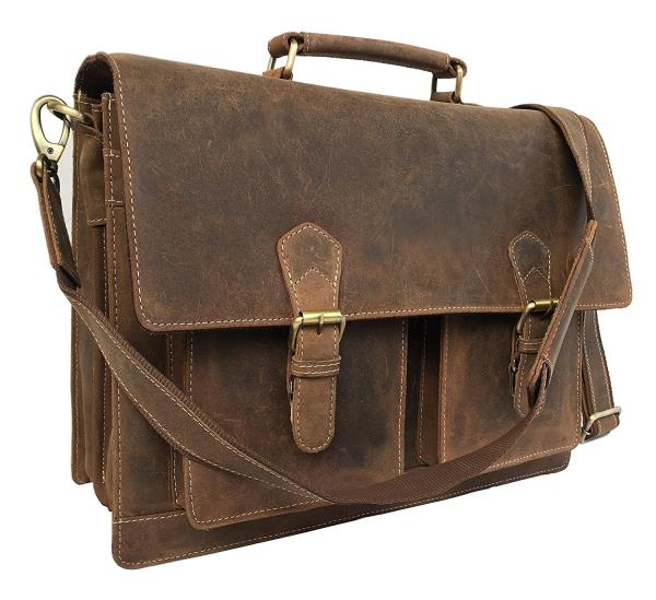 16 Inch Leather Messenger Bag Briefcase Bag laptop cases, distressed, laptop bags, Shoulder Bag