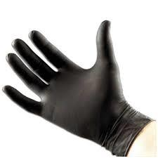 Tattoo Black Nitrile Gloves
