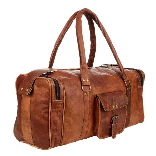 Bag Overnight Leather Tra