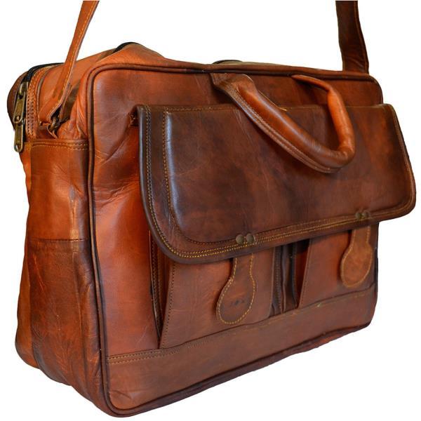 Brown Genuine Leather Han