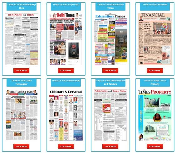 Times of India Display Ads