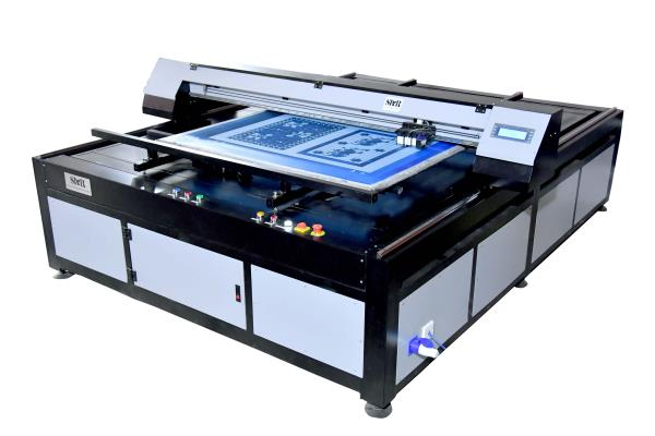 Thermal TechnologyThe SMRTF-59 offers the  Thermal  print head technology. The double row of printhead with 208 nozzles print screen in black ink of 600 dpi, and engraver using black ink, the SMRTF-59 is capable of printing in ultra-fine Dots,The Rotary one of the Highest Engraver on the  market today. But can printing width size 59 only, so requirement small size screen print.Salient Features* Minimization of joint problems since the whole screen is exposed at one instance.* The quality of designs exposed are far superior to the film based exposing.* Reduction in step for screen preparation means faster output.* Cost reduction up to 30% is possible due to the minimization of screen rejection.* Faster preparation of repeat designs as no time is needed to locate the achieve films.* Minimization or elimination of registration issues.