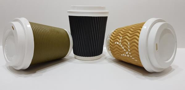 BIODEGRADABLE 8 OZ (250 ML) ROUND-WAVY-STRAIGHT RIPPLE PAPER CUP