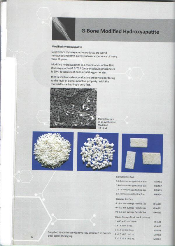 G BONE  - MODIFIED HYDROXYAPATITE