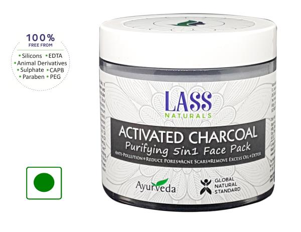 Lass Naturals Activated Charcoal Purifying 5-in-1 Face Pack - Skin Care