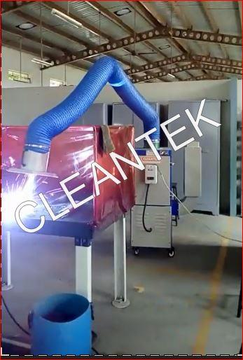 Cleantek design and manufacturing welding fume extractors to extract the hazardous fume and dust in welding applications.