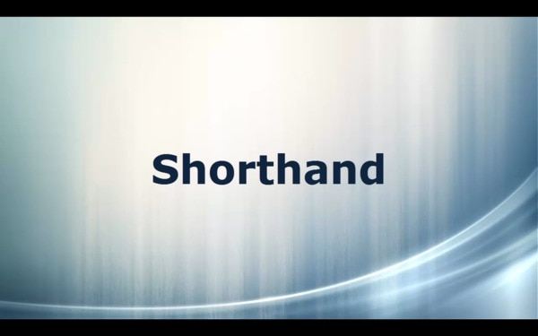 Shorthand is used for min