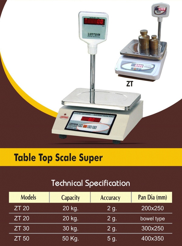 table top scale super