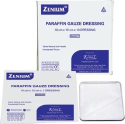 We are Manufacturer of all kind of Tulle Dressing  all over India and other countries as well.  Paraffin Gauze Dressings are used to dress denuded areas and hence these gauze are specially coated with soft paraffin jelly. The paraffin dressing, paraffin gauze dressing is non-adherent, non allergenic gamma sterilized, which helps in the speedy recovery of wounds. Used in the treatment of ulcers, burns, skin grafts (both donor and receptor sites) and various traumatic injuries. These paraffin dressing, paraffin gauze dressing are used directly over the contact layer.Specifications10cmx10cm10cmx30cm10cm x40cm