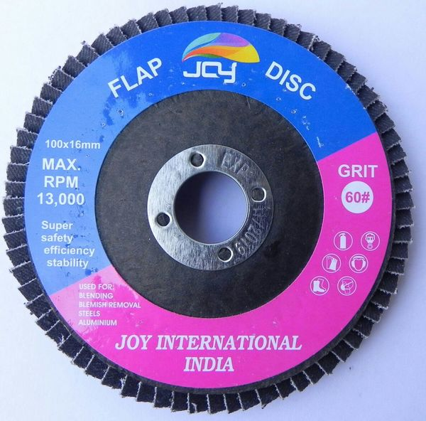 The flap discs designed for use on wood are very similar in nature to the flap discs designed for use on metal. The main difference is found in the abrasive material being used on each disc and in the stiffness of the backing material. Use woodworking flap discs on your angle grinder just like you would use sand paper 100X16 60G - 10PC BOX PACKING