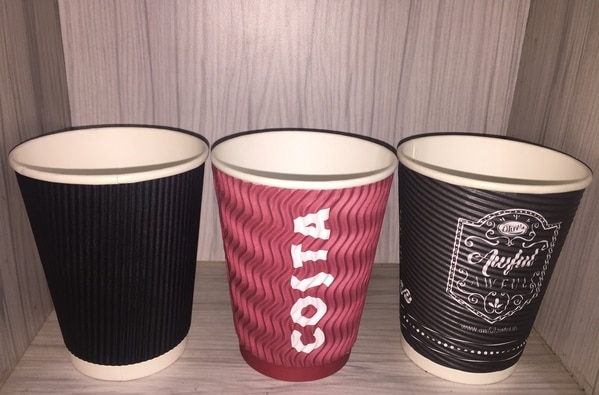 12 oz (350 ML) BIODEGRADABLE  ROUND-WAVY-STRAIGHT RIPPLE  PAPER CUPS