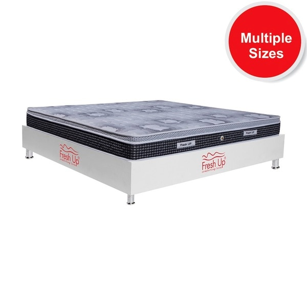 -  A superior Bonnell spring mattress having a comforting Eurotop layer on top. - Springs have small spaces between them which allows air to pass through the mattress. - Non - reversible - Warranty: 7 years - Firmness level: Medium - Mattress cover: imported knitted fabric and mesh fabric.  *Available in all sizes.