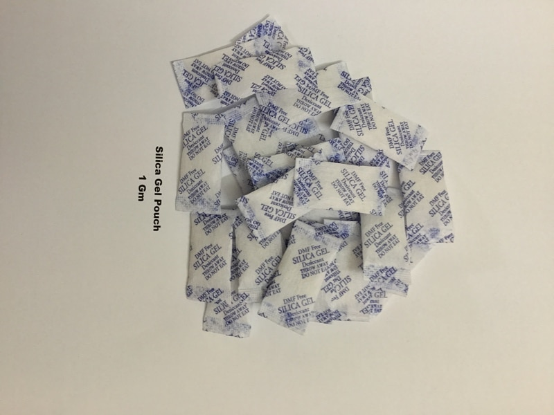 AQUABLUE is leading manufacturer of 1 Gm Silica Gel Pouch in Non woven packaging material. Silicagel Pouch are simply flexible 'containers ' of silica gel.
