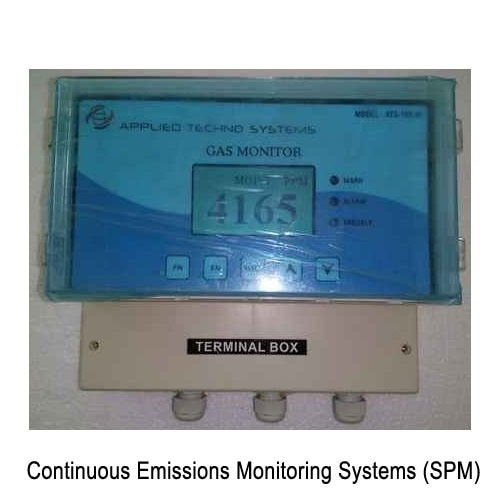 "Backed with leading–edge technology and experienced professionals, we are offering an extensive range of Continuous Emissions Monitoring Systems (SPM). It is a device that is mounted in the discharge stack of a dust collector and continuously monitors the amount of particulate discharge. Following industry distinct guidelines, we manufacture the entire array by utilizing contemporary machines, modernize technology and prime grade raw material. In order to ensure quality, the entire range is thoroughly tested upon a series of parameters. Apart from this, we offer the entire array in a wide range of specifications as per the precise needs of our clients. Features:Easy to useReliable operationPrecisely designedOther Details:A Dust particulate monitor is a device that is mounted in the discharge stack of a dust collector and continuously monitors the amount of particulate discharge. The particulate monitor uses a technology known as Triboelectric or Triboelectricity.When two different materials come in contact, it is likely that one will leave with more electrons than it started with and the other will leave with less, this is called Triboelectric Effect. The interaction between the probe and particles produces a charge transfer within the probe. The charge is then converted to an output signal.The advanced electronics of the Monitor detect this signal and present it to the operator via a modulating Graphical display.Specification :Range	0-1000 Mg/M3Sensor	Base Systems StyleIntegralRemoteRemote Sensor Enclosure:	Cost Aluminum, Electrostatically powder coatingProbe Material:	316 Stainless Steel (Slandered) other materials availableInsulator material:	Extended High Performance (PFA) Temperature up to 250 C Ceramic (High temperature up to 550 Deg C )Electronics	18 – 32 V DC () at the unit230V AC (Controller)Output:	4-20mA SPDT RelayProbe Insertion length:	3"" to 36"" ( 7.6 Cm to 91.4 Cm)Installation	Weld the supplied fitting into the pipe or Duct and insert SensorSensor Mounting	Flanged½"" Male NPTQuick release"