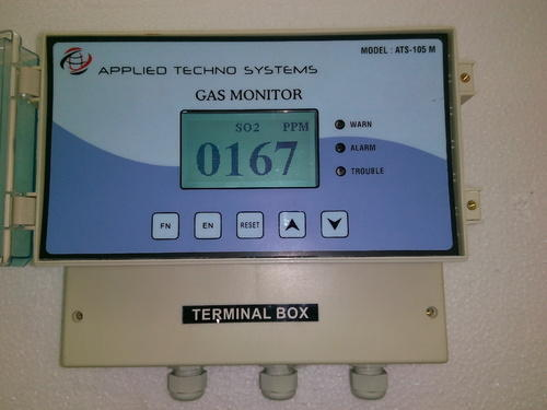 Our organization has successfully expanded its business in market owing to the offered elevated quality array of Ammonia Gas Leak Detector. Following industry defined guidelines, we manufacture this detector by utilizing contemporary machines, modernize technology and best grade material. In order to ensure quality, the entire array is rigorously tested upon a series of parameters. It is easy to install, designed for wall mounting and completely programmable from the front panel membrane switches. Apart from this, we offer the entire range in a wide array of specifications as per the diverse requirements of our clients.   Features:   Rugged construction Low maintenance cost Non corrosive body Other Details:  Model ATS-107M is Multi channel Ammonia gas Monitor for environmental Monitoring and Leak detection. The ATS-107M is an economical, yet versatile Multi channel controller with the features needed for monitoring a remote 4-20 mA gas sensor/transmitter or similar device. The instrument provides 24 VDC power, audio/visual alarms, alarm relays and other features. The ATS-107M is easy to install, designed for wall mounting and completely programmable from the front panel membrane switches. Accept Multi 4-20 mA Input from Remote Sensor/Transmitter.   Specifications:    Principle: Electrochemical, Solid State Semiconductor Catalytic and PID. Range: PPM/PPB or mg/M3. Resolution: 0.1 Unit or 1 Unit (Application based) Sampling Method: Diffusion Display: 128 X 64 Graphics LCD Alarm; Relay Contact NO+NC Anolog out Put: 4-20mA Digital out Put: RS 232, RS 485 and Modbus Communication Protocol Power Source: 230V AC Accuracy: +/2% Response Time: Data Storage: 1000 or 10000 Sensor Life: 2-3 Years   Environmental:    Temperature:-15 degree Celsius Humidity :< 85%RH Atmosphere Pressure: 86- 106Kpa Dimension in mm: 210 (W) X 180(H) X 110(D) Weight: 1.2 KG •Warranty: One Year
