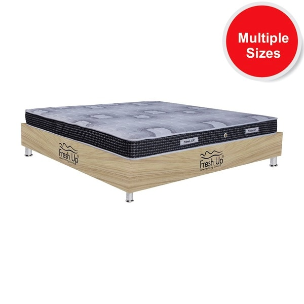 - Spring mattress made of highest quality Bonnell springs that cannot be found anywhere in India. Springs offer air spaces allowing the air to flow in and out of the mattress. - Supports the back well. -Reversible mattress - Warranty: 5 years - Mattress cover: knitted fabric and mesh fabric. Mesh provides good breath-ability to the mattress.  *Available in all sizes.