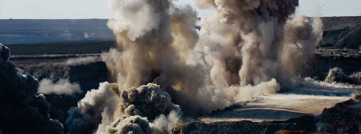 Drilling and blasting is the controlled use of explosives and other methods such as gas pressure blasting pyrotechnics, to break rock for excavation. It is practiced most  mining, quarrying and civil engineering such as dam and road construction.