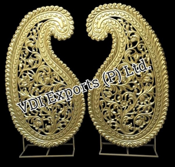 FULLY CARVED PAISLEY BACKSTAGE OR MANDAP PANELS