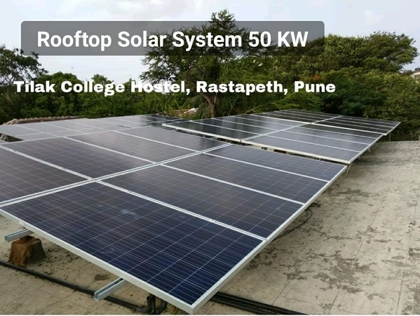50 KWp ROOFTOP SOLAR PLANTSCOPE OF SUPPLY:* Solar Panels 50 KWp* Solar Inverter 50 KW* Balance of SystemPrice: Rs 2400000.00+ GST 5% 120000.00Total Price: Rs. 2520000.00 Optional elevated HDGI module mounting structure of 6-8 feet heightExtra Rs 250,000/- + GST 18% Rs 45000.00 = Rs 295000.00SHAMS POWER'S SCOPE OF WORK: Complete design, supply, installation,  testing and commissioning  of Solar System including net metering and subsidy application procedureWARRANTY: One Year complete System warranty Inverter: 5 years  from the date of invoice PV Panels: 10 years manufacturer's product  warranty against manufacturing defect and 25 years performance warranty for min 90% out at the end of 10 years and 80% output  the end of 25 years. SUBSIDY: Available at Rs 13350/ KWp for residential and non-profit organization only.  POWER GENERATION ESTIMATESYearly Power Generation (Units): 65000-75000Monthly Power Generation(Units): 5000-7500Daily Power Generation (Units):200-250INVESTMENT & EXPENSES    Approx System Cost (Rs): 25,00,000/-Yearly Maintenance Cost (Rs): NilSubsidy (Rs): 6,67,500/-Net Cost after Subsidy (Rs):18,32,500/-SAVINGS ESTIMATES    Monthly Saving in Light Bills (Rs): 70,000 - 100,000Yearly Saving in Light Bills (Rs): 9,00,000 - 10,00,000ROI (Return on Investment):30% to 40%Payback Period: 20 -25 monthsOTHER INFO:   Area Required on Terrace: 4000-5000 sq ftMaintenance Required: RegularPanel cleaningProject Implementation Period: 8-12 weeksNet Metering Procedure Period: 3-4 monthsBackup During Power Shutdown: No / OptionalCONTACT:Mr Khuzema LimkhedawalaSHAMS POWER SYSTEMS PVT LTDOffice: No.3, Shantikunj society, Wanowrie, Near Kedari Garden Marriage Hall, Pune 411040Email: info@shamspower.inMob: 9372402738 / 7774033073Website: www.shamssolar.in