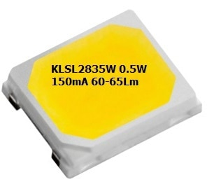 LEDChip Indus Produce 3.2 Volts, 0.5 Watts 60-65Lumens @150mA; Cool White 6000-6500K CCT (Color Corelation Temperature); The KLSL2835W from LEDchip Indus in Power SMD LED category, are ideal for EVERY APPLICATION be it Tube Lights, Downlight, Lanterns& even Street Lights!; These 2835 SMD LED's have emerged as strong contenders for down-lights, bulbs as they bring down the costs of power LEDs by whopping 40%. With LPW (Lumens per Watt) of 60 and enhanced reliability, they help in bringing out mass use LED LIGHTS WITHIN RANGE OF TRADITIONAL LIGHT SOURCES. Lanterns& LED LIGHTS WITHIN RANGE OF TRADITIONAL LIGHT SOURCES. visit website: www.ledchipindus.com