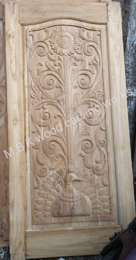 Teak wood single main door carving desing best quality african teakwood size 30 mm thickness height 78 inchas width 38 inchas this desing only on order for ready