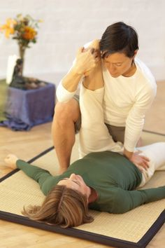 Thai full body massage is a dry massage usually uses no oil The therapist may use her hands, arms, elbows, knees or feet during the session to move your body into yoga-type stretching positions. The receiver may be positioned in a variety of yoga-like positions during the course of the massage, but deep static and rhythmic pressures form the core of the massage. The body will be energized and rejuvenated after the massage. Thai massage is more energizing and rigorous than more classic forms of massage. Thai massage is also called Thai yoga massage, because the therapist uses his or her hands, knees, legs, and feet to move you into a series of yoga-like stretches. Many people say Thai massage is like doing yoga without any work. Many people find that Thai massage has the following benefits: •relaxes •reduces stress •improves circulation •increases energy •increases flexibility •improves range of motion •centers the mind and body