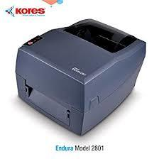 KORES ENDURA 2801   * DIRECT THERMAL & THERMAL TRANSFER PRINTING APPLICATIONS * HIGH PRINTING SPEES (5IPS) * AUTO LABEL DETECTION FUNCTION * ZPL AND TSPL SUPPORTABLE  * DOUBLE SENSORS * MEMORY 32MB RAM & 16MB ROM * INTERFACE :- USB, SERIALPORT, ETHERNET