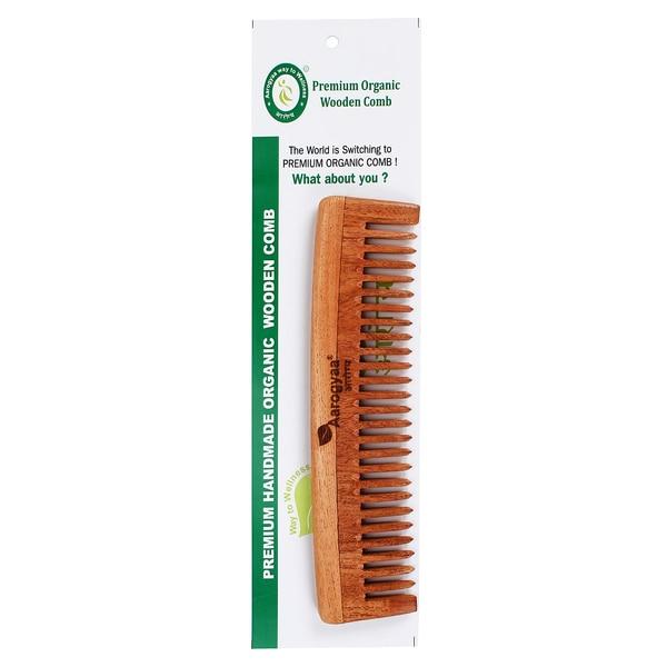 Organic Premium Herbal Asadirachta Indica Travel Home Wide Teeth Comb