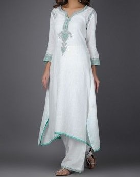 Beautifull Indian Designer Embroidered Traditional Handmade Kurti with Pants Stylish Indian Dress Collection