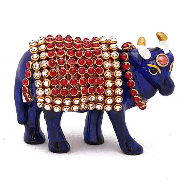 Meenakari work cow designed by handicraft manufacturer