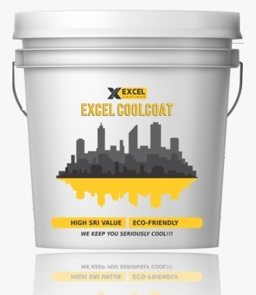 EXCEL CoolCoat - Water Based High SRI Heat Reflective Cool Roof Coating