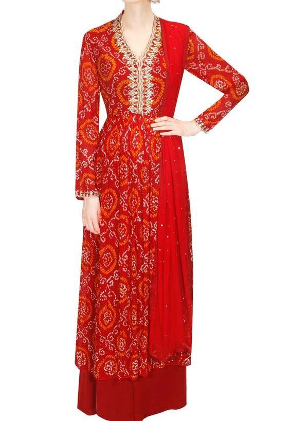 Handmade Handcrafted Indian Designer Bandhani Dress Beautifull Wedding Wear Indian Dress Collection