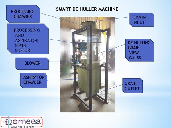 SMART DE HULLER MACHINE MANUFACTURER, SUPPLIERS IN OMEGA WELDROD SYSTEMS IN COIMBATORE   SPECIALY DEVELOPED FOR SMALL FARMER  *IN THIS MACHINE TNE HUSKS WILL BE REMOVED  THIS MACHINE WORKS WITHOUT ANY HEATING PROCESS  THIS MACHINE CAPACITY IS 100 KG/ Hour