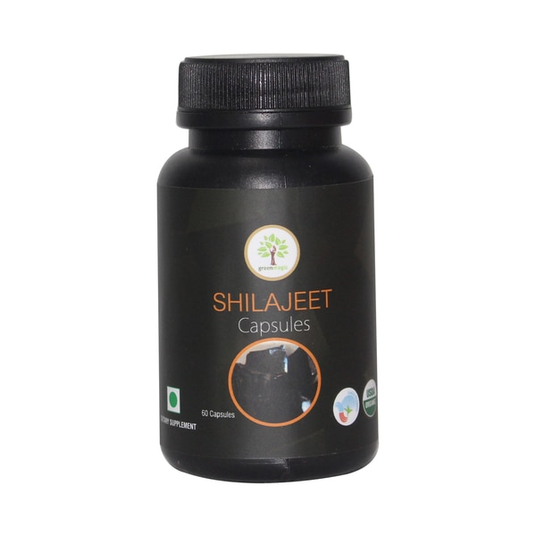 "100% Pure and Natural herbs in capsules form.Ayurvedic Organic capsules in the Bottle of 60 capsules.Shilajeet is a rare tonic ""herbal"" substance collected by local inhabitants in the Himalayas. It has been used for thousands of years as a tonic. increases physical strength and enduranceDosage: One-two capsules twice a day, preferably with milkShilajeet Contains Processed Shilajeet, Which Is Recommended To Be Used As A General Tonic, Known For Providing Strength, Stamina & Vigour"