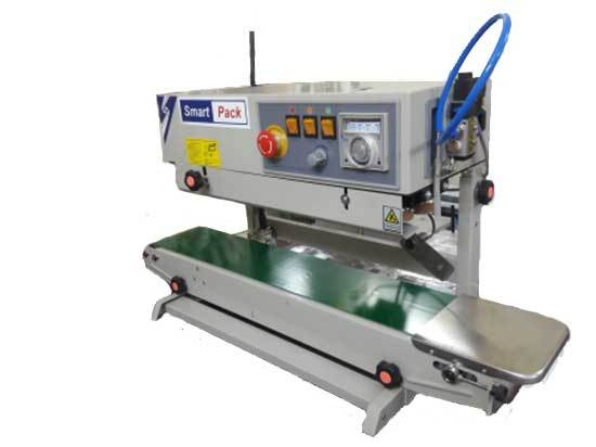 If you need to vertically seal thermoplastic bags on a low to medium-volume level. This vertical sealer features a stainless steel design along with an easy-to-use control panel found on the top right side of the machine. Bags are fed from the right and pulled through the sealer, producing an 8mm wide seal along the open end of the thermoplastic bag. KEYWORDS:- packaging machine cost,packaging machine manufacturer in Faridabad,packaging machine suppliers,packaging machine ahmedabad,packaging machine automatic,packaging machine Australia,packaging machine automation,auto packing machine,packaging automatic machine price,packaging machine fully automatic,packaging machine manufacturer ahmedabad,atta packing machine, masala pouch packing machine