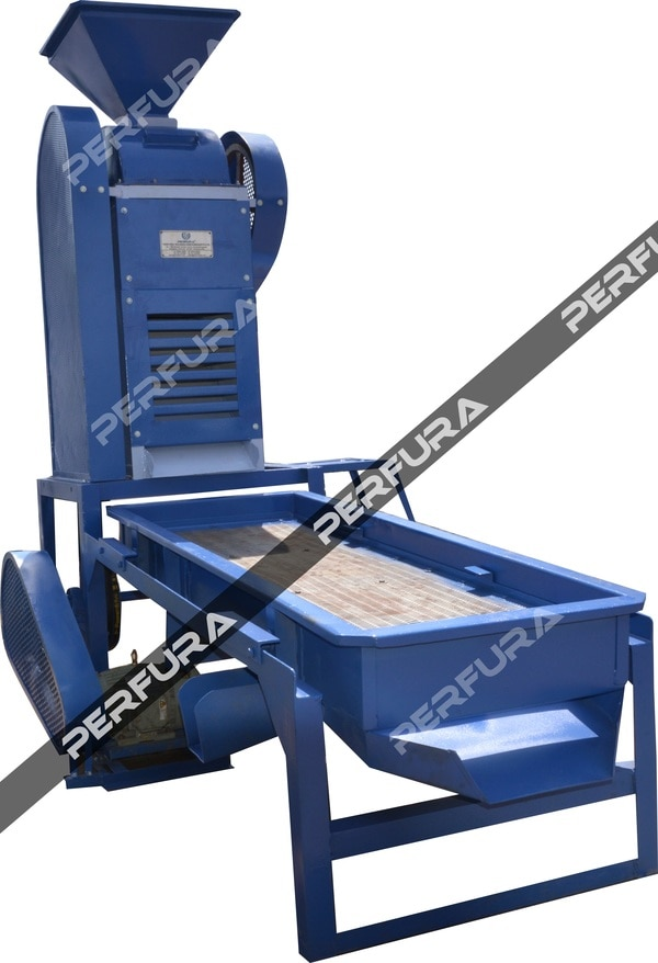 Groundnut Deskinner cum Grader is used for removing the outer skin of roasted nuts and grading the nuts based on size