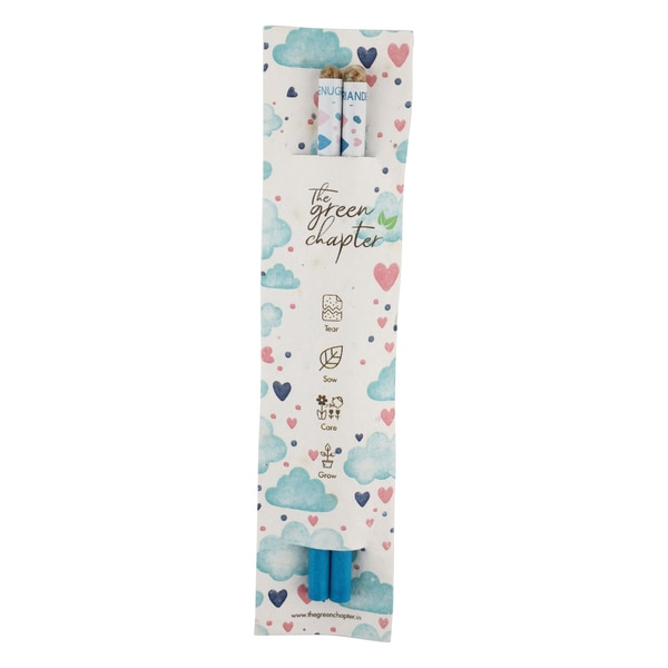 Gift Set Birthday / Festive Gift for Girls or Boys Seed Pencils with Plantable Paper Pack of 10 ( Over The Clouds Theme)