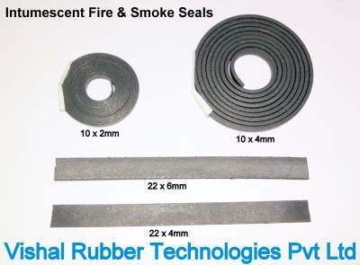 Intumescent Rubber Fire Smoke Seal for Fire Doors and Windows