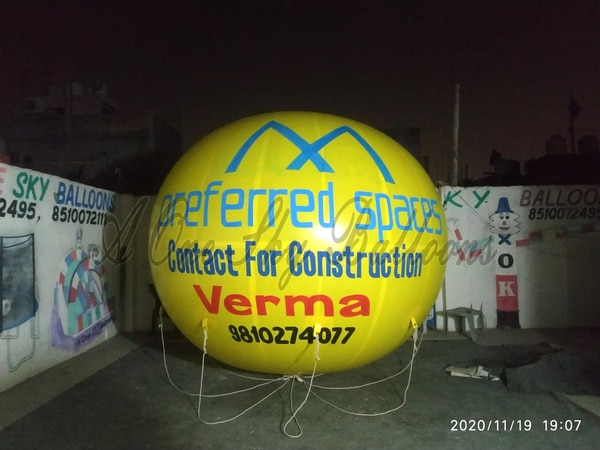 The sector has creatively found new means of advertising to reach targeted audience. Advertising Balloons are one of them, which is widely used for creating brand awareness. Being a manufacturer and exporter in the domain, we ensure that customers' key purpose is fully-solved i.e. to successfully promote their products/services or creating awareness among their users.