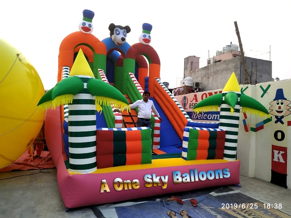 Bouncy Castle mickey mouse bouncy castle Supported by a team of skilled and experienced professionals, we manufacture and supply a wide array of Air Balloons Bouncy in Delhi, Delhi, India. Modern machinery and high grade materials are employed in the manufacturing ( A One Sky Balloon) process of this Air Balloons Bouncy which ensure its preciseness and durable nature.
